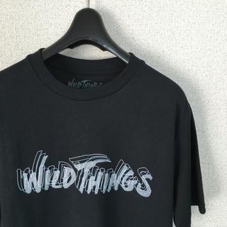 ワイルドシングス(WILDTHINGS)のWILD THINGS Tシャツ カットソー ロゴ ブラック グレー(Tシャツ/カットソー(半袖/袖なし))