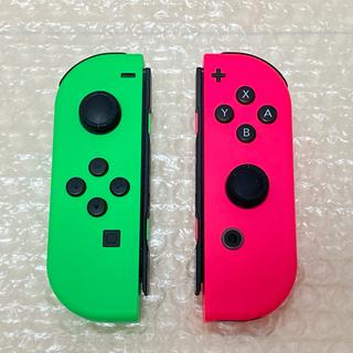 ニンテンドースイッチ(Nintendo Switch)のSwitch 純正 Joy-Con ジョイコン ネオン グリーン ピンク (家庭用ゲーム機本体)