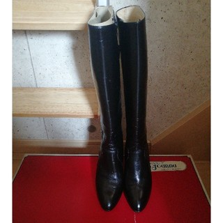 ロングブーツ23/黒(ブーツ)