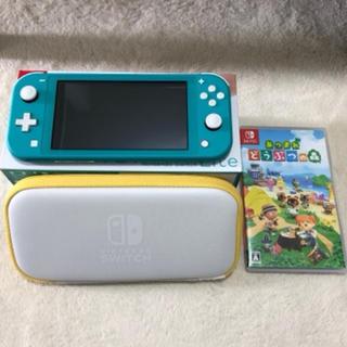 ニンテンドースイッチ(Nintendo Switch)のNintendo Switch  Lite ターコイズ・どうぶつの森(家庭用ゲーム機本体)