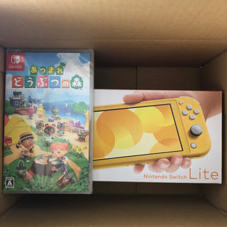 ニンテンドースイッチ(Nintendo Switch)のNintendo Switch  スイッチライト どうぶつの森セット イエロー(家庭用ゲーム機本体)