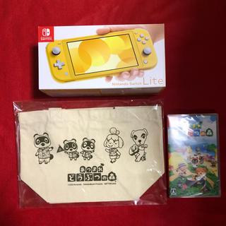 ニンテンドースイッチ(Nintendo Switch)のNINTENDO switch lite イエロー どうぶつの森セット(携帯用ゲームソフト)