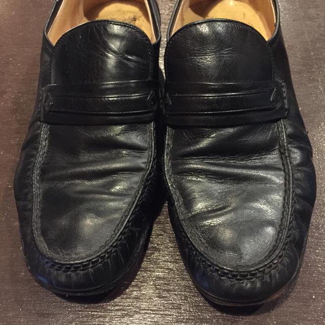 jarman モカシンシューズ 黒 レディースの靴/シューズ(ローファー/革靴)の商品写真