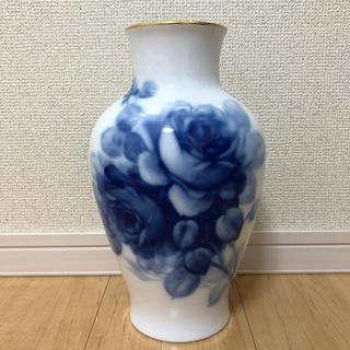 オクラ(OKURA)の大倉陶器 ブルーローズ 28cm(花瓶)