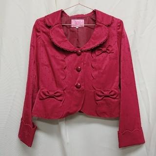 アンジェリックプリティー(Angelic Pretty)のAngelicPretty  リボンジャガードのジャケット(テーラードジャケット)