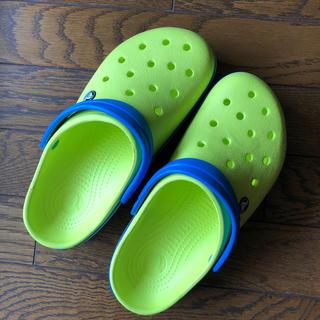 クロックス(crocs)のクロックス  TBグリーン/オーシャン(73E) (サンダル)