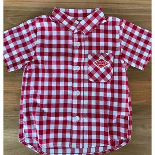 キッズ 半袖チェックシャツ 90cm(その他)