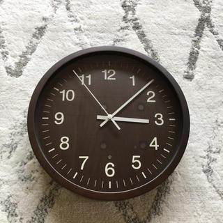 ムジルシリョウヒン(MUJI (無印良品))の美品 無印良品 電波掛け時計 (掛時計/柱時計)
