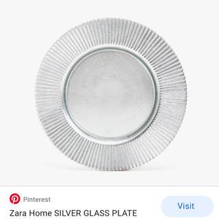 ザラホーム(ZARA HOME)の【未使用新品】ザラホーム シルバープレート皿(食器)