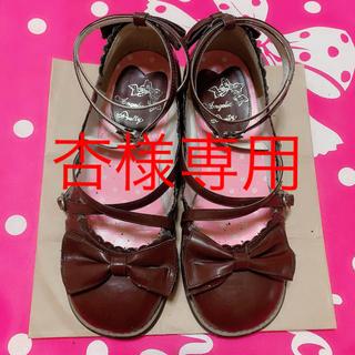 アンジェリックプリティー(Angelic Pretty)のTea Party Shoes ブラウン LL ティーパーティーシューズ(ハイヒール/パンプス)