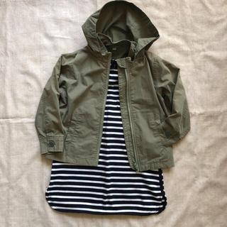 ムジルシリョウヒン(MUJI (無印良品))の無印良品 綿混フードジャケット 男女兼用 110(ジャケット/上着)