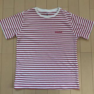 モンベル(mont bell)のmont-bell Tシャツ 150  ボーダー 赤(Tシャツ/カットソー)