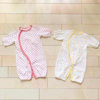 アカチャンホンポ(アカチャンホンポ)のコンビドレス2枚組 新生児 50〜60サイズ 綿100%(その他)