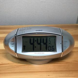 カシオ(CASIO)のCASIO カシオ 電波時計 目覚まし時計ウェーブセプター SQD-2X(置時計)
