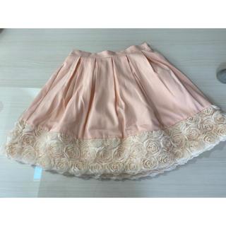 アドリー(ADREE)のADREE アドリー 薔薇のピンクスカート 姫 お嬢様 ロリータ(ひざ丈スカート)