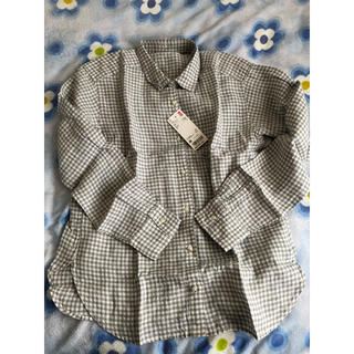 ユニクロ(UNIQLO)のUNIQLO プレミアムリネンチェックシャツ(シャツ/ブラウス(長袖/七分))