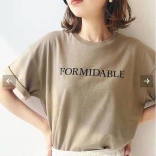 イエナ(IENA)のイエナ ロゴプリントTシャツ ベージュB iena(Tシャツ(半袖/袖なし))