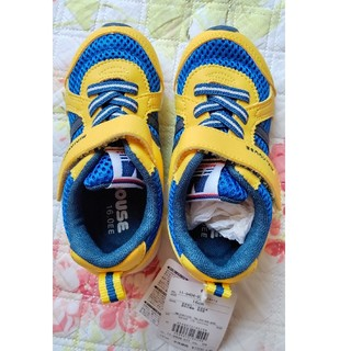 ミキハウス(mikihouse)の新品ミキハウススニーカー靴シューズイエロー16.0(スニーカー)