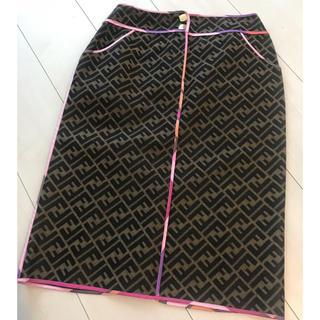 フェンディ(FENDI)のフェンディFENDI正規美品ズッカスカート(ひざ丈スカート)