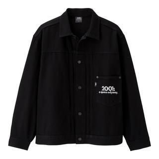 ジーユー(GU)の新品未使用 GU デニムジャケット S 2001年宇宙の旅 ブラック(Gジャン/デニムジャケット)