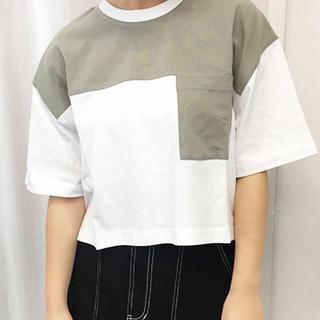 配色ポケット付きTシャツ【ZOZOTOWN限定アイテム】(Tシャツ(半袖/袖なし))
