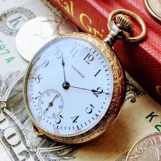 ウォルサム(Waltham)の#550【ケースの模様が綺麗】メンズ懐中時計 アンティーク 動作良好 ウォルサム(その他)