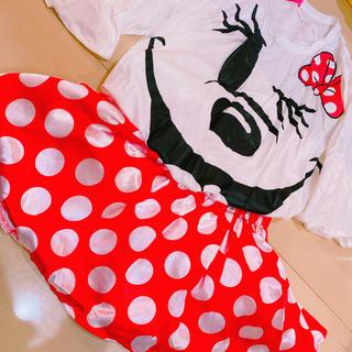 ディズニー(Disney)のディズニーランド購入品 ミニー Tシャツ スカート コスプレ(Tシャツ(半袖/袖なし))
