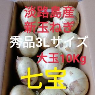 七宝○秀品大玉10Kg○淡路島 新玉ねぎ 玉葱(野菜)