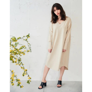 スナイデル(snidel)のHerliptohome Asymmetric Cotton Dress(ルームウェア)