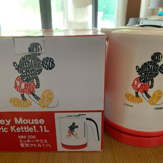 ディズニー(Disney)の【値下げ】ミッキーマウス 電気ケトル1.1L(電気ケトル)