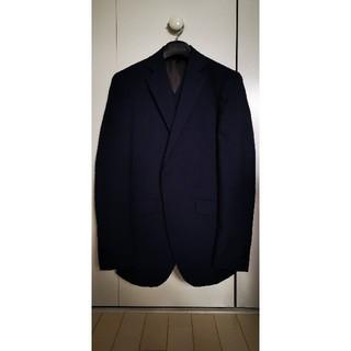 オリヒカ(ORIHICA)のスーツ ベスト表裏着用可 3P 紺 シャドーストライプ 光沢 10month(セットアップ)