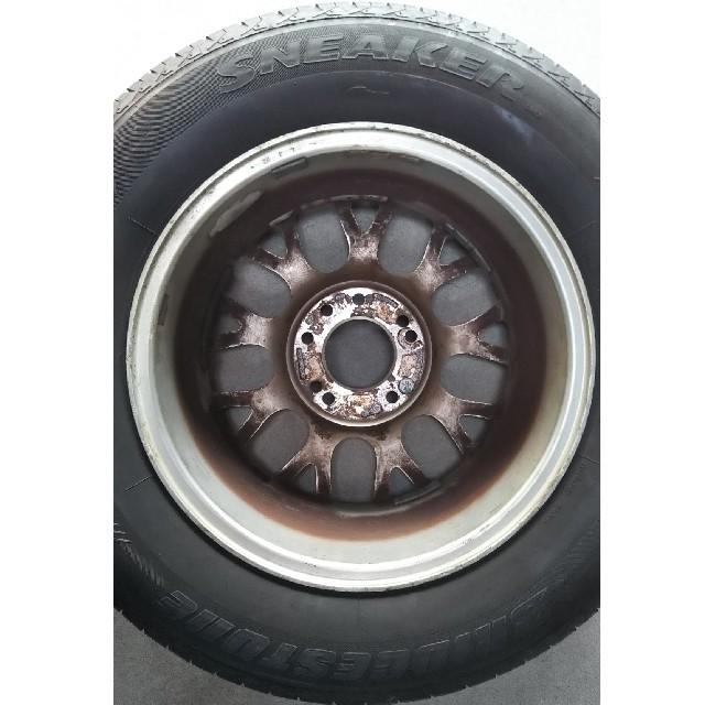 205/70R15中古タイヤ 自動車/バイクの自動車(タイヤ・ホイールセット)の商品写真
