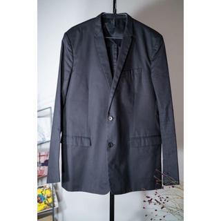 ジルサンダー(Jil Sander)のDior Homme ディオールオム 2B ジャケット 50 黒(テーラードジャケット)