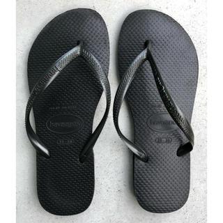 ハワイアナス(havaianas)のMA様専用 ハワイアナス 黒サンダル(ビーチサンダル)