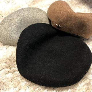マウジー(moussy)の美品 ベレー帽 3色セット(ハンチング/ベレー帽)