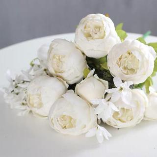 造花 バラ 白 ホワイト アーティフィシャルフラワー 高級(その他)