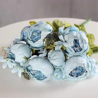 造花 バラ 水色 青 ブルー アーティフィシャルフラワー 高級(その他)
