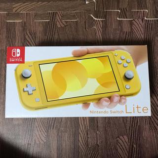 ニンテンドースイッチ(Nintendo Switch)の送料無料 新品未使用 Nintendo Switch Lite 本体 イエロー(携帯用ゲーム機本体)