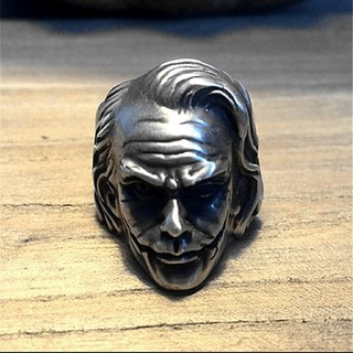 JOKER シルバー リング メンズ 指輪 ジョーカー ブラック ステン 77(リング(指輪))