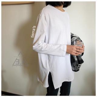 ディーホリック(dholic)のimport❁︎サイドスリット デイリー クルーネックt(Tシャツ/カットソー(七分/長袖))