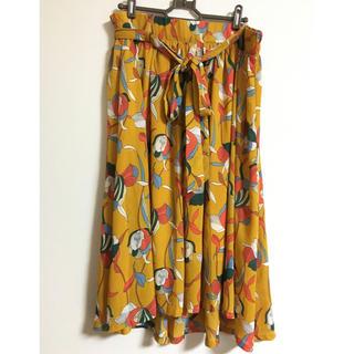 大きいサイズ 花柄スカート 3L.4L相当 少し難あり(ひざ丈スカート)