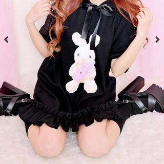 マーズ(MA*RS)の【Princess Melody】♪ばぶうさちゃんパーカー♪ - ブラック (カットソー(半袖/袖なし))