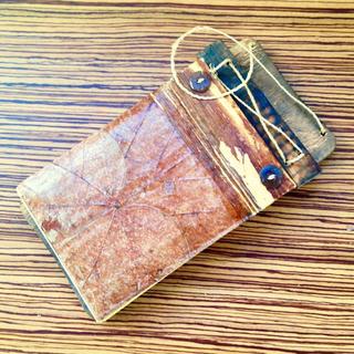 希少 UK60'sVintage Leaf×Wood Notepad(その他)