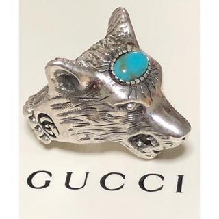 グッチ(Gucci)のGUCCI グッチ 正規品 ウルフヘッド リング 15号 指輪 中古 美品(リング(指輪))