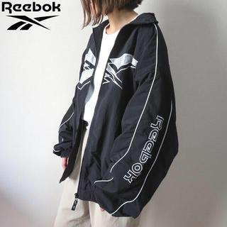 リーボック(Reebok)の90s リーボック 刺繍ベクターロゴ ナイロンジャケット 古着女子(ナイロンジャケット)