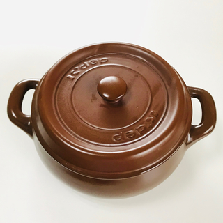 ルクルーゼ(LE CREUSET)の新品未使用 ケデップ セラウェアマルチポット ブラウン(鍋/フライパン)