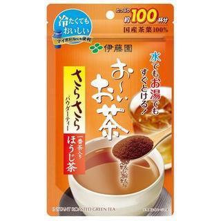 インスタント日本茶 お~いお茶 パウダーティー 一番茶入り ほうじ茶