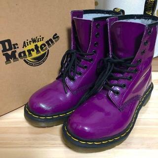 ドクターマーチン(Dr.Martens)のドクターマーチン パープル 8ホール UK4(ブーツ)
