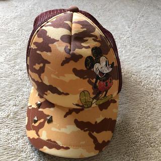 ディズニー(Disney)のミッキーマウス キャップ ディズニー カモフラ ブラウン(キャップ)