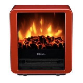 電気暖炉 ファンヒーター MiniCube レッド MNC12RJ Dimple(ファンヒーター)